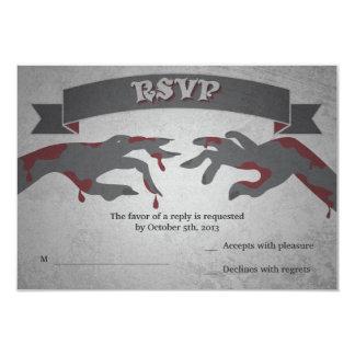 RSVP para una invitación del boda del zombi