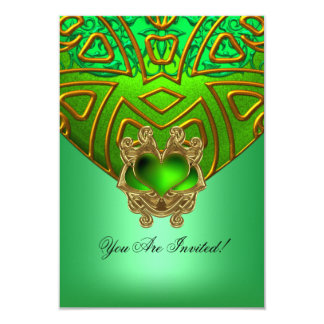 RSVP Party All Occasions Elegant Green Gold Card
