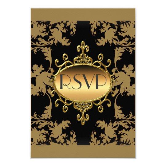 RSVP Party Black Gold RSVP Card