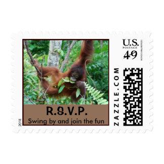 RSVP party invitation postage
