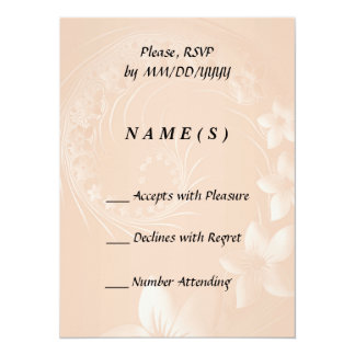 RSVP - Pastel Brown Abstract Flowers Card