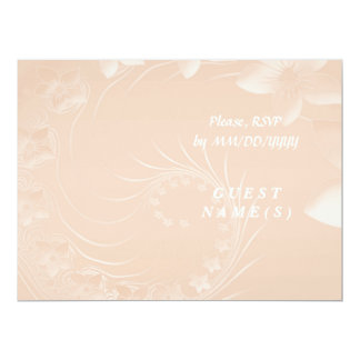 RSVP - Pastel Brown Abstract Flowers 6.5x8.75 Paper Invitation Card