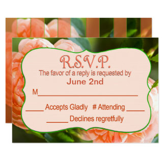 RSVP - PEACH ROSE COLLECTION CARD