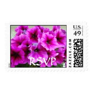 RSVP/Petunias Postage