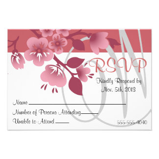 RSVP Pink Cherry Blossoms - Spring Wedding Invite