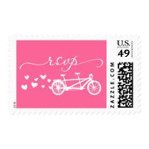 RSVP Pink Tandem Bike Hearts Postage