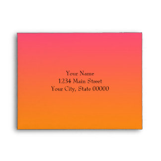 RSVP Pink to Orange Ombre with Star Envelope