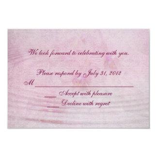 RSVP Pink Wedding Orchids 3.5x5 Paper Invitation Card
