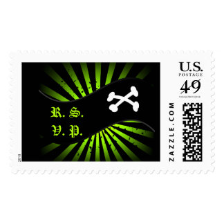 RSVP Pirates Flag Postage Stamp