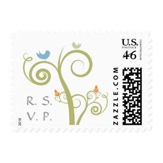 RSVP Postage Stamp stamp