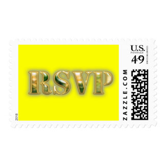 rsvp postage stamp