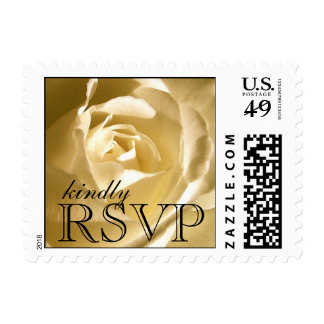RSVP Postage Stamps Cream Rose Weddings