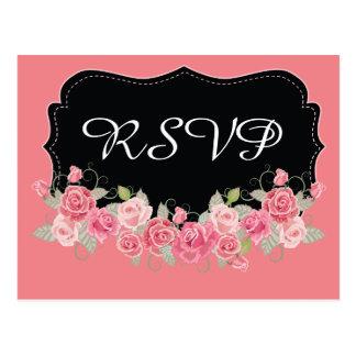 RSVP Pretty Pink and Black Postcard