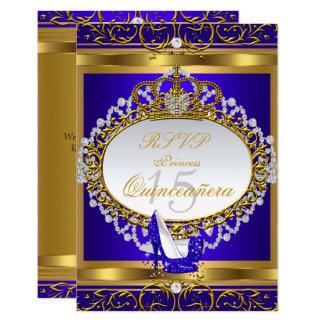 RSVP Princess Quinceanera Elite Royal Blue Shoe Card