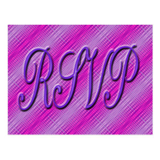 RSVP purple and pink Postcard