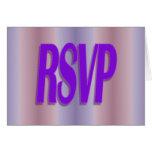 rsvp purple greeting card