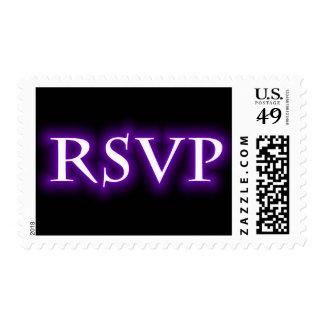 RSVP Purple Neon Glow Postage