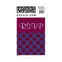 RSVP Purple Red floral pattern Postage