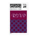 RSVP Purple Red floral pattern Stamp