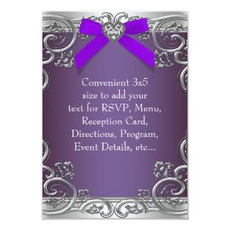 RSVP púrpura de uso múltiple Comunicado