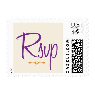RSVP púrpura y anaranjado caprichoso Envio