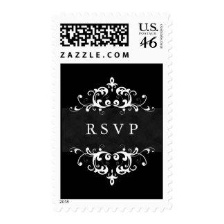 RSVP que casa el adorno formal del sello