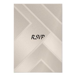 RSVP que casa el art déco blanco Comunicado Personal