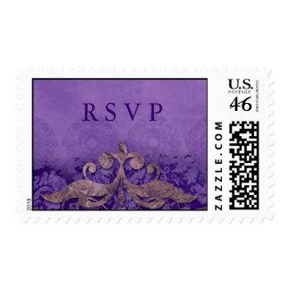 RSVP que casa el PB del verdete del damasco del vi