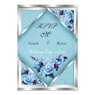 RSVP que casa el ramo de plata de los rosas Invitacion Personalizada
