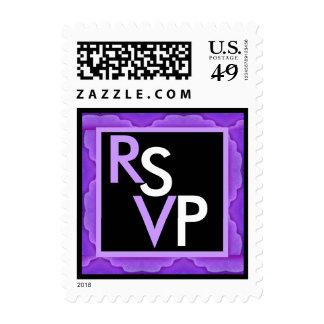 RSVP que casa el ribete púrpura y negro del Envio