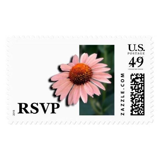 RSVP que casa el sello floral