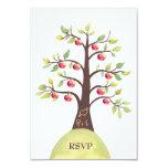 RSVP que casa la talla del manzano del monograma Invitacion Personalizada