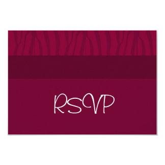 """RSVP que se casa de color rojo oscuro Invitación 3.5"""" X 5"""""""