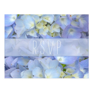 RSVP que se casa floral azul claro Tarjetas Postales