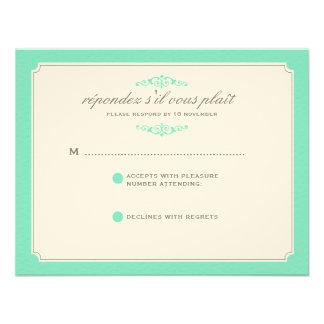 RSVP que se casa ideal delicado en aguamarina Invitación Personalizada