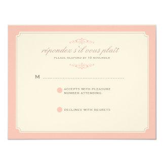 RSVP que se casa ideal delicado en suavemente rosa Comunicados