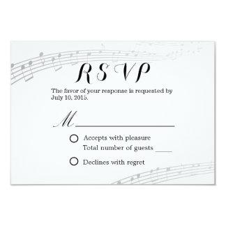 """RSVP que se casa musical simple y elegante Invitación 3.5"""" X 5"""""""