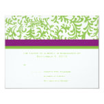 RSVP que se casa púrpura y verde Comunicado