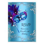 RSVP Quinceanera 15th Birthday Party Masquerade 3.5x5 Paper Invitation Card
