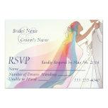 RSVP - Rainbow Bride & Groom Wedding 2 Card