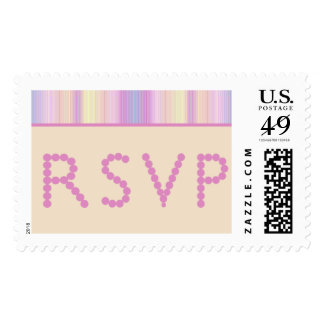 RSVP rayó el sello grande en colores pastel