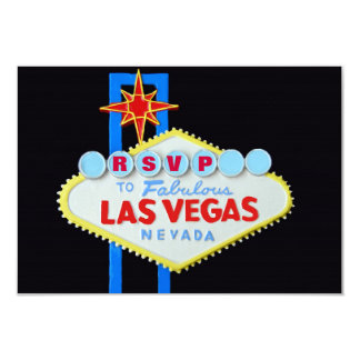 RSVP Reception Guest Reply Las Vegas Wedding 3.5x5 Paper Invitation Card