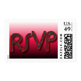 RSVP Red n Black Postage
