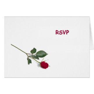 RSVP Red Rose Card
