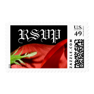 RSVP Red Rose Event And Wedding Text Postage