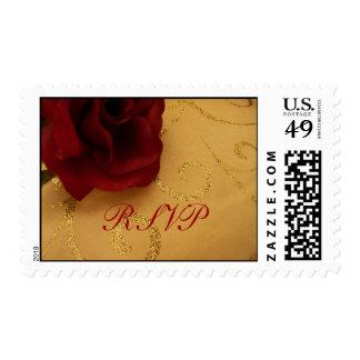 RSVP Red Rose Postage Stamp