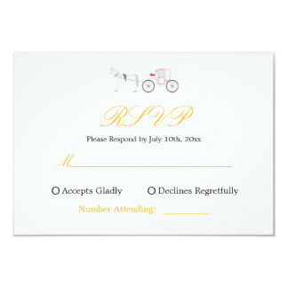RSVP Reply Card with Horse & Carriage Graphic