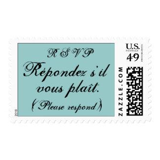 RSVP - Répondez s il vous plaît Postage Stamp