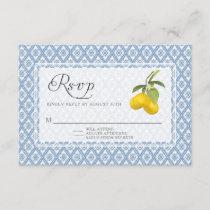 RSVP Response BOHO Rustic Lemon Trellis Floral Art