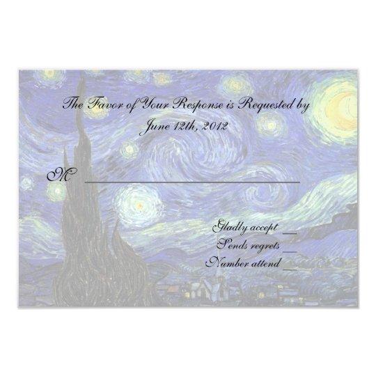 RSVP response card